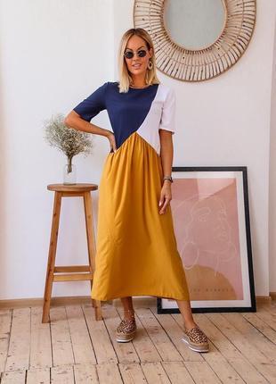 Стильное платье /сарафан, в наличии расцветки и размеры 42-56