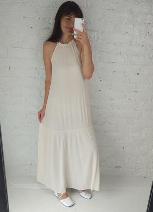 Кремовое платье h&m