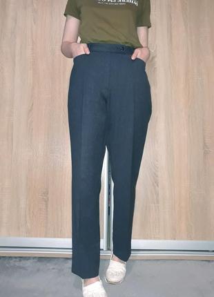 Прямые винтажные брюки со стрелками на высокой посадке с прямыми карманами brax германия4 фото