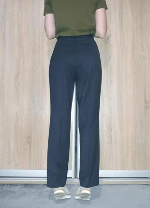 Прямые винтажные брюки со стрелками на высокой посадке с прямыми карманами brax германия7 фото