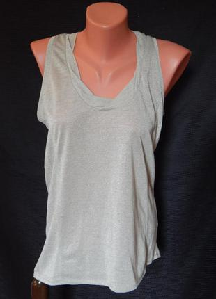 Нарядная майка-алкоголичка с люрексовой ниткой под серебро от inwear (размер 38-40)