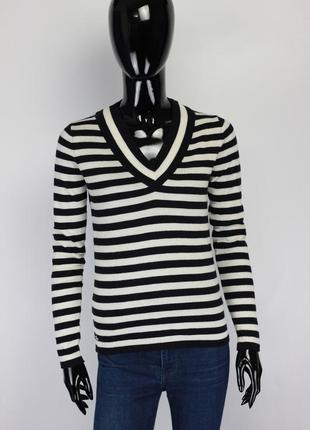 Фирменный шерстяной свитер в стиле tommy hilfiger zara escada