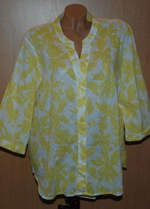 Блуза принтованая бренда  marks & spencer / 100%хлопок /