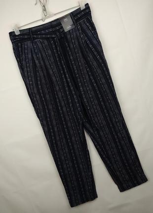 Штаны брюки новые льняные стильные marks&spencer uk 10/38/s