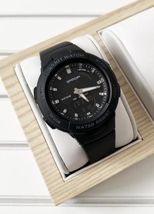 Часы sanda 6005 black-silver