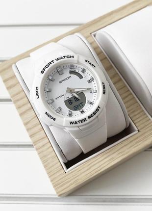 Часы sanda 6005 white-silver