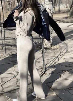 Прогулочный костюм в рубчик