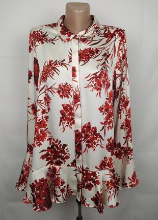 Блуза цветочная стильная от люксового бренда autograph uk 16/44/xl