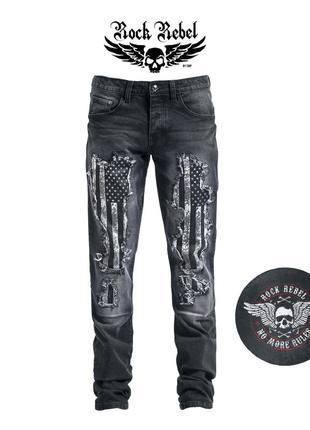 Rock rebel крутые мужские джинсы