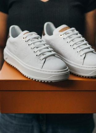 Louis vuitton sneakers женские кроссовки белый цвет (36-40)💜