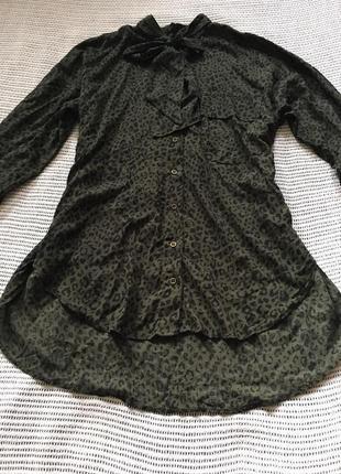 Рубашка от zara, животный принт, новая, размер42