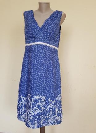 Нежное платье с вышивкой лен хлопок