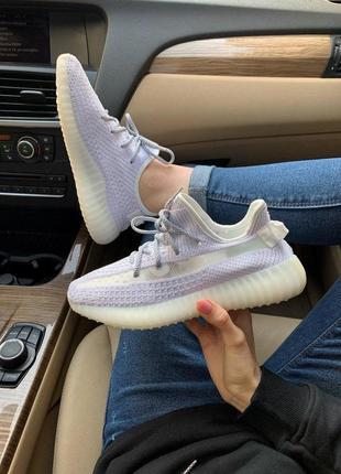 Adidas yeezy 350 static женские кроссовки адидас белого цвета (36-40)💜