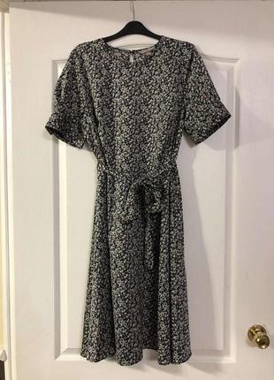 Платье миди в цветочек h&m, новое!