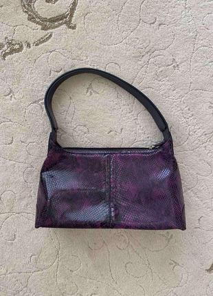 Замшевая фиолетовая сумка bruder италия!