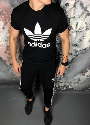 Мужской спортивный костюм: штаны и футболка