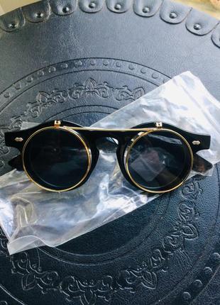 Имиджевые и  солнцезащитные двойные очки оправа flip up в стиле итальянского бренда havvs