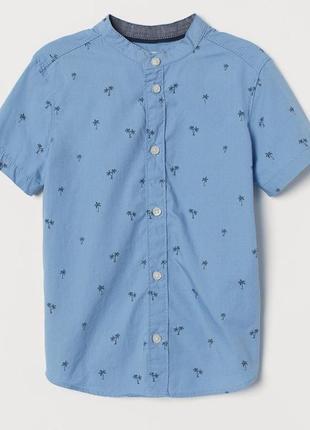 Стильная рубашка h&m размеры 122, 128, 134, 140