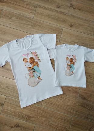 Парные футболки фемели лук family look