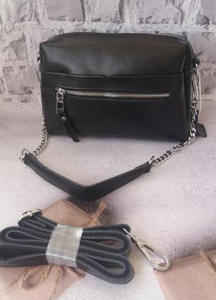 Кожаная женская сумка жіноча шкіряна клатч кожиный