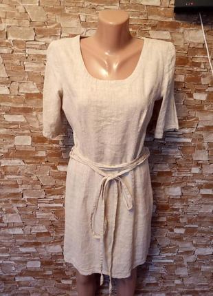 Италия, невероятно красивое, льняное платье, лёгкое платьице, из натурального льна