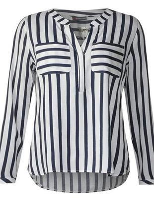 Блузка-рубашка в полоску
