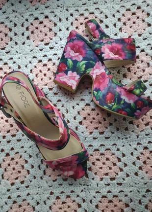 Новые женские босоножки # босоножки на платформе # в цветочный принт # flover