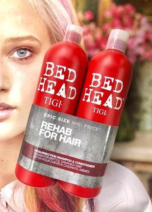Набор для волос шампунь кондиционер tigi resurrection 2x750ml s
