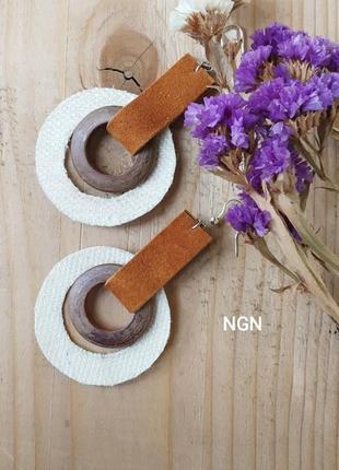 Крупные геометрические серьги ngn