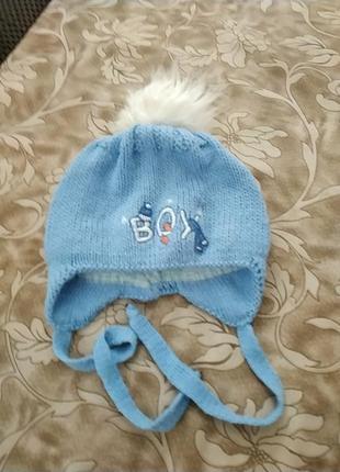 Зимняя шапочка для самых маленьких
