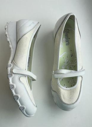 Спортивные балетки skechers кожаные, 38 размер новые как clarks ecco geox nike