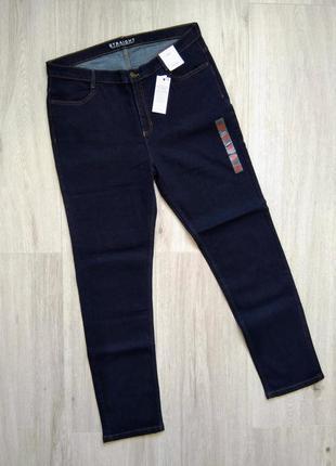 Женские джинсы высокая талия marks & spencer размер 18 (46)