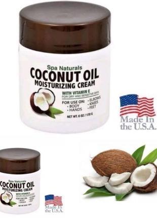 Крем для тіла на кокосовій олії spa naturals coconut oil 6oz. (170г). сша
