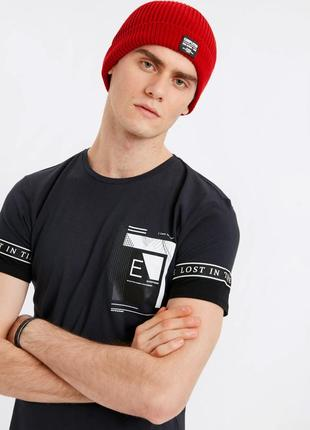 Черная мужская футболка lc waikiki / лс вайкики lost in time