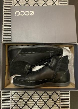 Кожаные ботинки ecco оригинал р.38