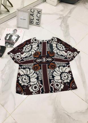 Новая крутая цветочная футболка блуза с принтом autograph