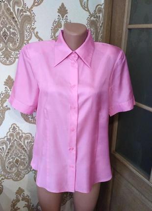 Gerry weber. натуральный шёлк! рубашка, блузка с коротким рукавом