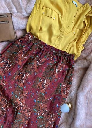 Виньажная юбка миди