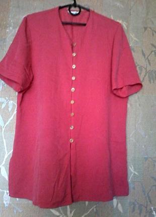 Легкая вискозная красивая блузка рубашка berkertex,размер 16/52/xxl