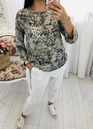 Стильная блузка из натурального шелка nile