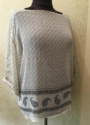 Стильная полупрозрачная легкая блуза разлетайка р 40