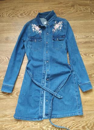 Джинсовое платье new look, размер 38