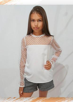 Блузка белая подростковая