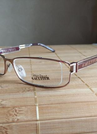 Новая фирменная металлическая оправа под линзы,очки оригинал jean paul gaultier vjp 091