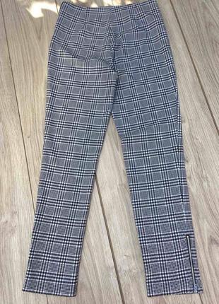 Стильные актуальные h&m штаны брюки клетчатые в клетку