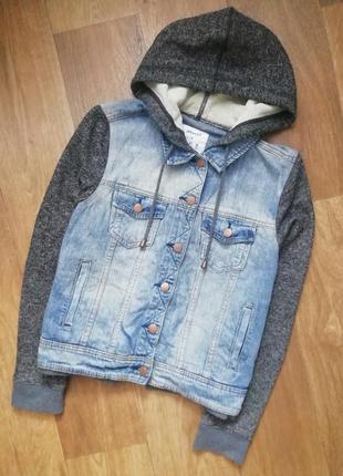 Джинсовка, джинсовая куртка, курточка, пиджак, жакет, бобка, капюшонка