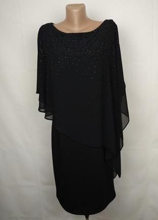 Платье новое шикарное футляр в паетках шифоновая накидка wallis uk 12/40/m