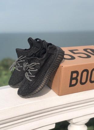 Adidas yeezy boost 350 black full reflective (полный рефлектив)