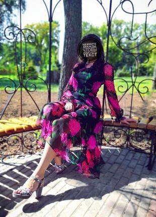 Платье шифоновое летнее с цветами🌺