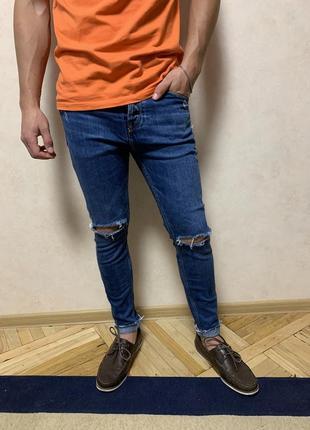 Pull & bear джинсы с разрезами на коленях